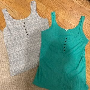 Bundle of 2 J.Crew Tanks, size medium